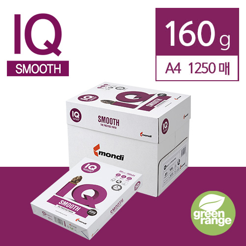 IQ Smooth 160g A4 1250매